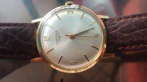 Bán đồng hồ Longines cổ toàn thân vàng đúc 18k