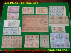 Bán 1 bộ tem phiếu mini sử dụng trong thời kỳ BAO CẤP