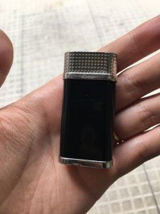Cartier Clous De Paris Decor Lighter Black Conposite Palladium finish