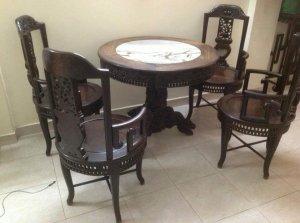 Bộ bàn ghế gỗ trắc kiểu Pháp hơn 100 năm