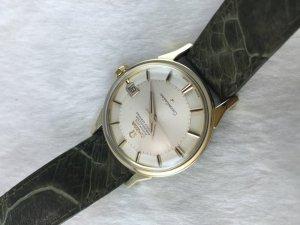 "Omega Constellation Chronometer Automatic Pie Pan ""dog leg"" demi 14k gold Cal561"