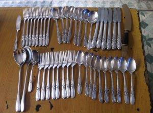 Nhiều Muỗng, nĩa chất liệu bằng Bạc