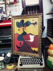 Tranh trừu tượng dạng picaso ( bà đầm già )