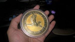 Bán đồng tiền lớn 10 đô Úc (năm 1996, bạc nguyên chất)