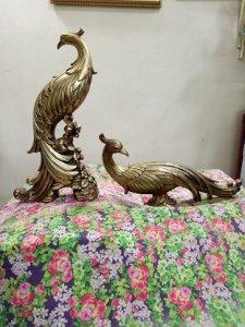 Cặp Chim Phượng Hoàng SYROCO WOOD-Made In USA - đồ xưa- Hàng xách tay từ Mỹ-