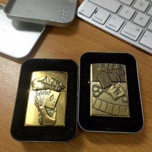 Zippo bộ đôi lucky brass bài bạc 1997 1998