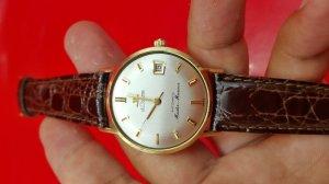 LECOULTRE automatic Master Mariner vỏ vàng khối 14k xưa chính hãng thụy sỹ