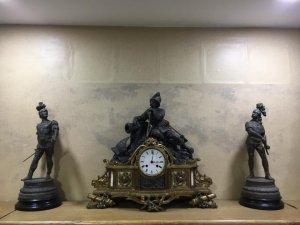 Bộ đồng hộ tượng atimon dát vàng 3 người lính