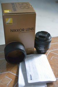 Bán lens nikon 85 f1.8 G, hàng Vic Việt Nam, Box