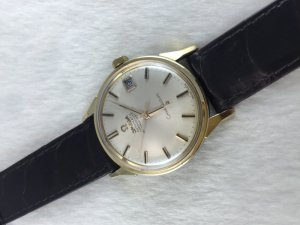 "Omega Constellation Chronometer Automatic ""dog leg"" demi 14k Cal564"