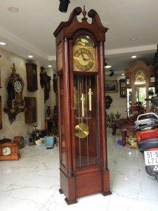Đồng hồ tủ 3 tạ xích 12 gong Colonial 3 bài nhạc sx USA 1950 !