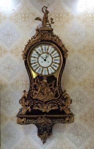 Đồng hồ treo tường Boulde Versailles louis XIV chạm sx Germany 1950 !!!