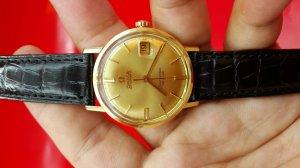 Omega seamaster deville mặt số bằng vàng xưa chính hãng