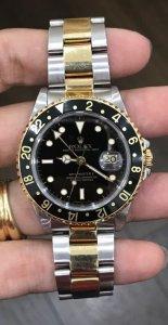 Rolex 16713 GMT Master II Automatic đơmi vàng đúc 18K zin Thuỵ Sỹ 100% Size 40mm