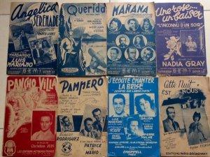 Tờ nhạc Pháp xưa- Lô 8 tờ - Free ship