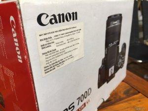 Bán bộ Canon 700D kèm lens kit và 50f/1.8 (fullbox còn hóa đơn)