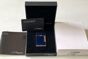 Dupont linge 2 rose gold navy blue fullbox