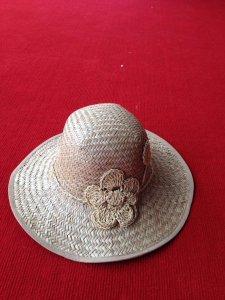 Mũ cói nữ đính hoa