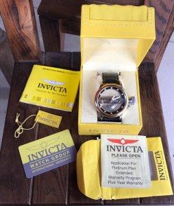 """Invicta """"Lộ máy"""" Automatic đơmi vàng zin chính hãng 100% Fullbox"""