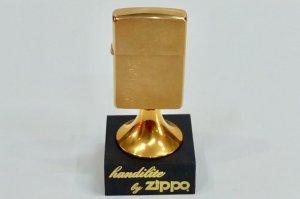 Zippo Table Handilite Gold Plate 1994