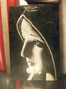 Tranh sơn mài công giáo: Đức mẹ maria