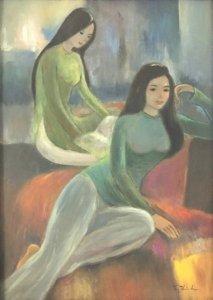 50LCK SHOP - Tranh sơn dầu 3 : Hai thiếu nữ