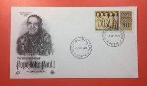 4 FDC Tòa thánh Vatican phát hành năm 1978 giá 200k