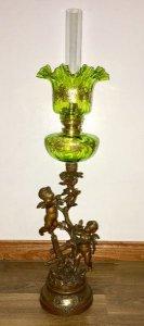 Đèn dầu tượng nguyên bản, đồng bộ quá đẹp