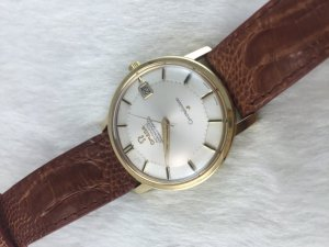 Omega Constellation Chronometer 250 Automatic Pie Pan solid 18k gold Cal561 White dial