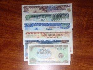 Bộ tiền cotton 6 tờ