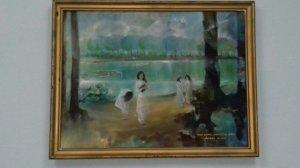 tranh sơn dầu xưa.