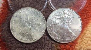 Xu bạc Mỹ One Dollar 1OZ bạc, 750k/xu