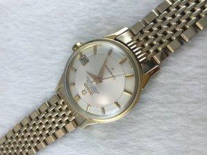 "Omega Constellation Chronometer Automatic Pie Pan ""dog leg"" demi 14k & Bracelet Cal561"