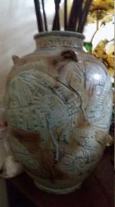 Bình Cá cao 36cm.Minh trung.giá 1900k