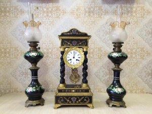 Đồng hồ Khải Hoàn Môn lắc kê vàng sx Pháp 1930