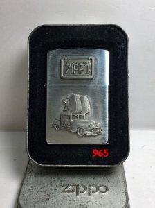 Z.965_brushed chrome 1998 _emblem zippo và xe cổ