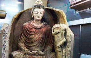 Phát hiện tượng Phật cổ 2000 năm siêu hiếm thấy