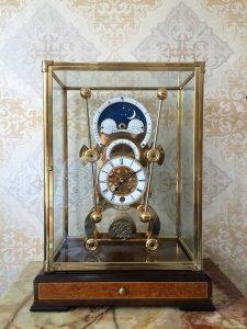 Đồng hồ Skeleton mạ vàng 24 karat 3 mặt số men