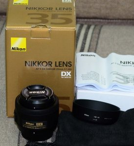 Nikon af-s 35mm f:1.8G fullbox