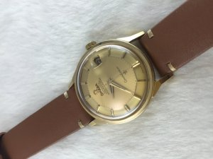 """Omega Constellation Chronometer Automatic Pie Pan """"dog leg"""" solid 14k gold Cal561 dial's Yellow Gold"""