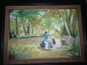 Thiếu nữ tranh của họa sĩ Vinh