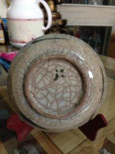 Đĩa sứ cổ đời Thanh Đường kính 13.5cm