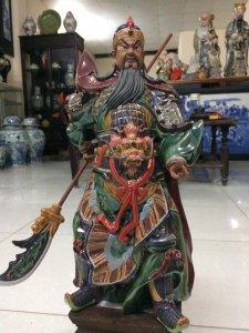 Tượng ngài Quan Vân Trường gốm Phật Sơn tuyệt đẹp