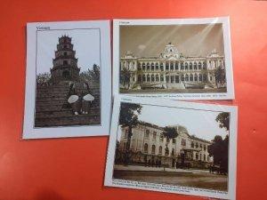 Postcard Huế-Sài Gòn-Hà Nội cổ xưa,180k/12pos tcard.