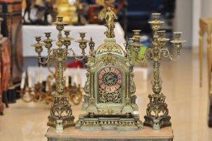 Đồng hồ để bàn cổ của Pháp, hàng nguyên bản cực đẹp, có 102