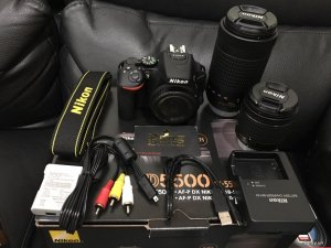 Nikon D5500 Digital SLR Camera + 18-55mm VR + 70-300
