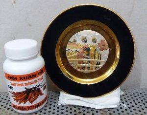 Đĩa mạ vàng nhật bản hội xuân độ giá 1500000