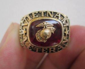 Nhẫn bạc khối Cựu binh thủy quân lục chiến tham chiến tại Việt Nam, họa tiết rồng hoành tráng,