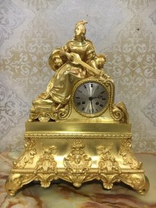 Đồng hồ tượng lắc kê vàng. Hàng xách tay Châu Âu ( Hàng tuyển cực đẹp )