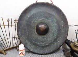 Chiêng đồng khổng lồ bằng đồng xưa nặng tầm 5kg giá  7 triệu